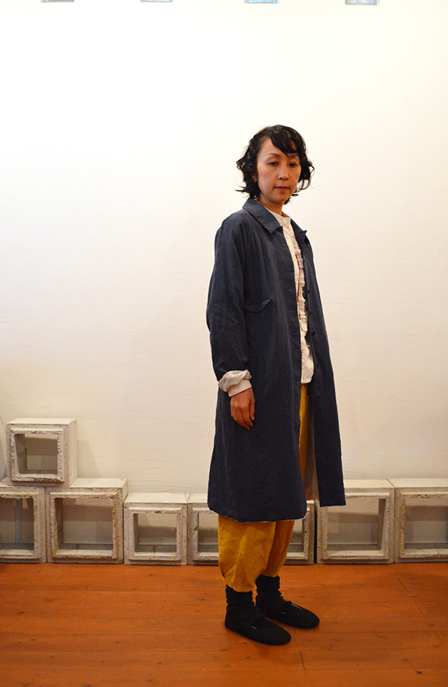 wash-out linen coat