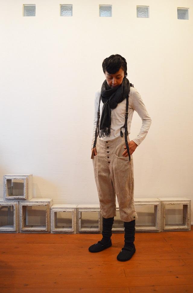 suspender button-down pants