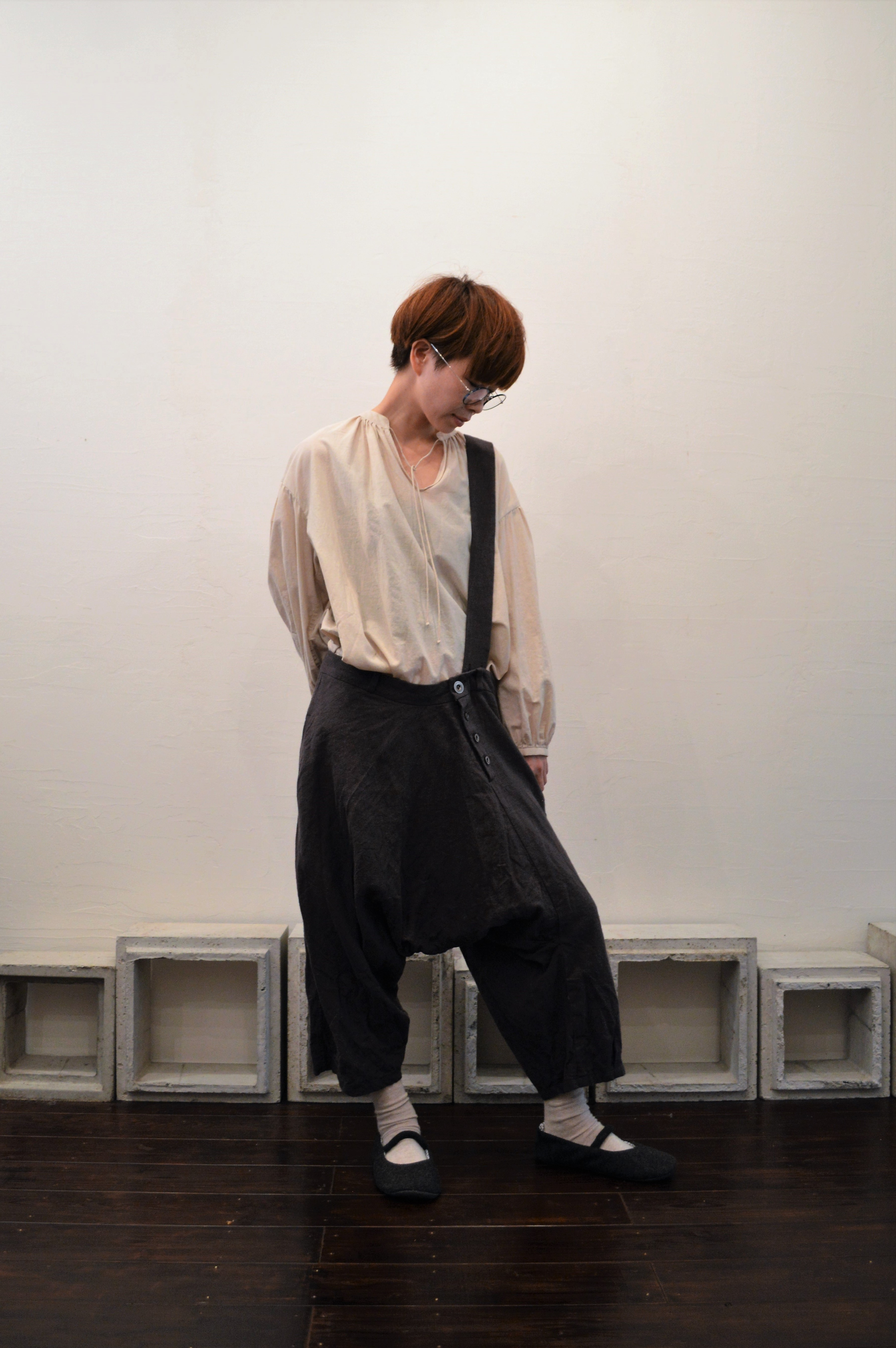 single suspender sarrouel pants(long)